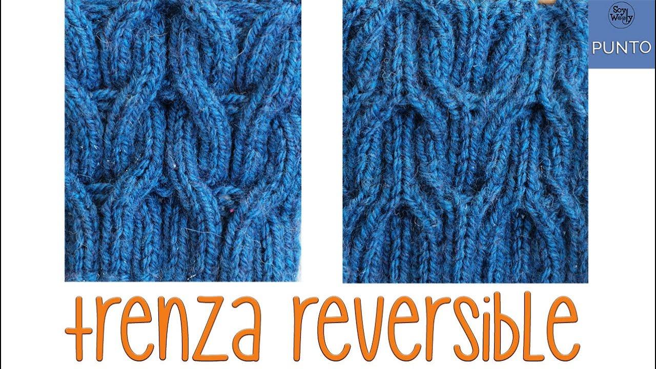 Cómo tejer trenzas reversibles en dos agujas: Punto Trenza Espiga -Soy Woolly