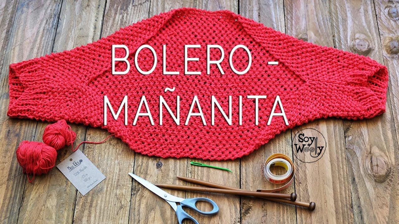 Cómo tejer un BOLERO/MAÑANITA/TORERA en dos agujas (moderno y fácil)