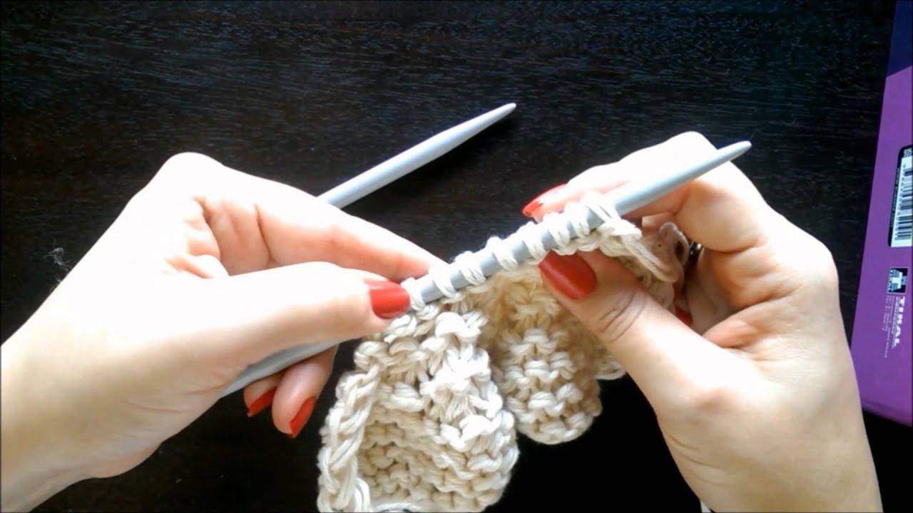 Cómo tejer un gorro caído unisex con dos agujas/palillos