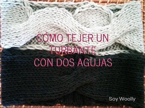 Cómo tejer un turbante, diadema o cinta con dos agujas/palillos