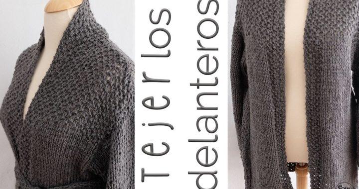 Cómo tejer una chaqueta de bebé/adulto (dos agujas) PARTE II: delanteros