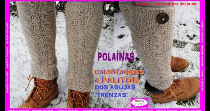 Calentadores Vintage a Palitos con Trenzas por Maricita Colours Tutorial Dos Agujas