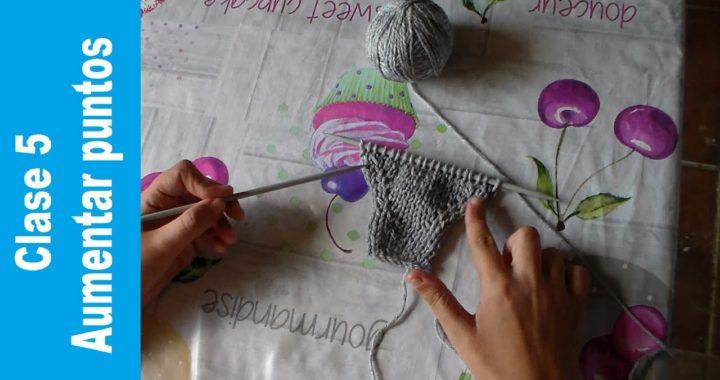 Clase 5 Aumentar puntos | aprender a tejer a dos agujas | Proyecto tejeril | tricot | knit