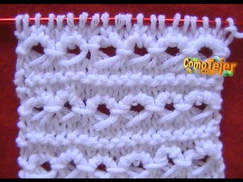 Como Tejer PUNTO PERUANO-Broomstick Loop Stitch 2 Agujas (7)