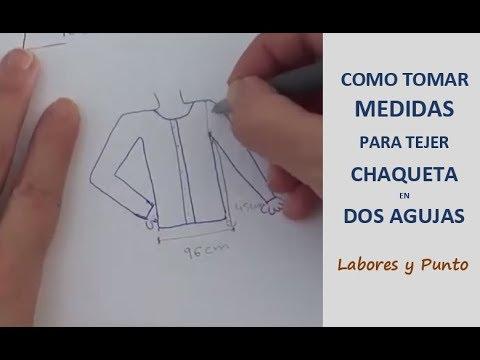 Como calcular medidas y los puntos a poner para tejer una chaqueta en dos agujas