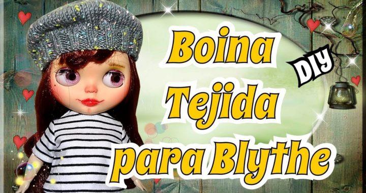 Como hacer un Boina para tu muñeca Blythe con 2 agujas - Tutorial facil de Tejido