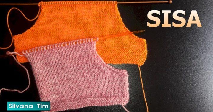 Como tejer SISA ✔️ Tejido con dos agujas. Manga Plegalbe. Cómo hacer los cálculos/silvana tim # 605