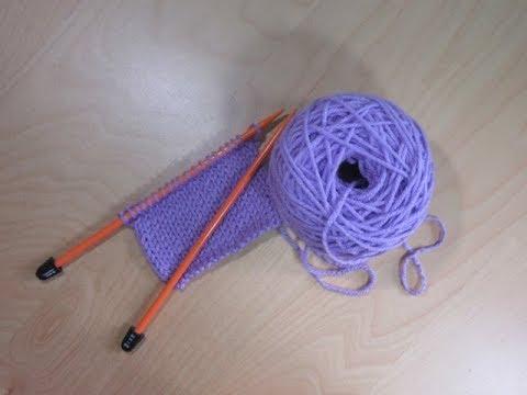 Como tejer a dos agujas principiantes clase 2