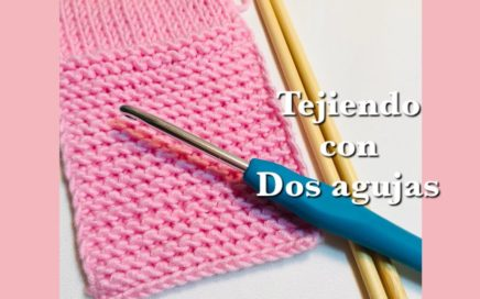 Como tejer con dos agujas:  Para principiantes - Como montar sus puntos con un gancho #1