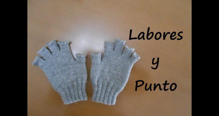 Como tejer guantes con dedos cortos en dos agujas - Parte 1 de 3