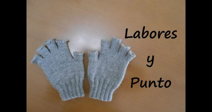 Como tejer guantes con dedos cortos en dos agujas- Parte 2 de 3