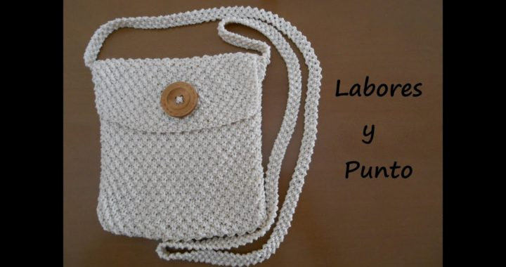 Como tejer un bolso pequeño de colgar en dos agujas: Parte 1 de 3