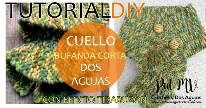 Cuello a Dos Agujas con Efecto Tirabuzón / Tutorial DIY