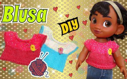 DIY Blusa tejida para Muñecas  en Dos agujas DIY Tutorial de Tejido Nivel Básico