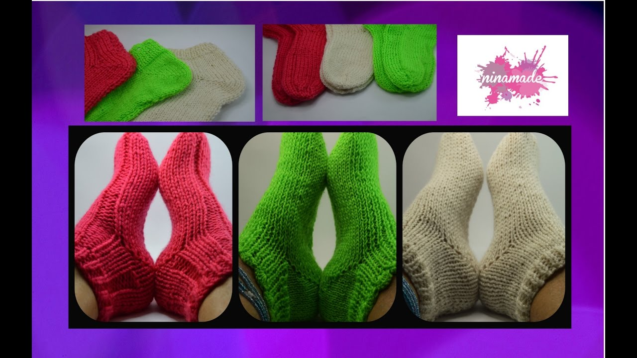 DIY. Tejer calcetines con dos agujas// Knitting socks with two needles.