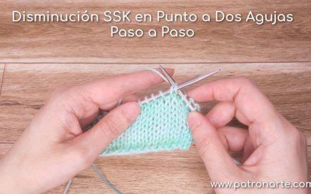 Disminución SSK en Punto a Dos Agujas | Aprendiendo a Tejer Paso a Paso