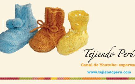 Dos agujas:  cómo tejer zapatitos básicos para bebés (Parte1) - Tejiendo Perú