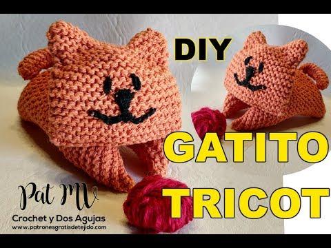 Gatito Tricot Amigurumi Dos Agujas / Tutorial DIY