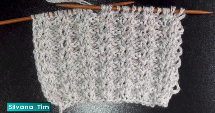 Puntada ESTRELLITAS con puntos sin tejer. Tejido a dos agujas / silvana tim tutorial knitting # 603