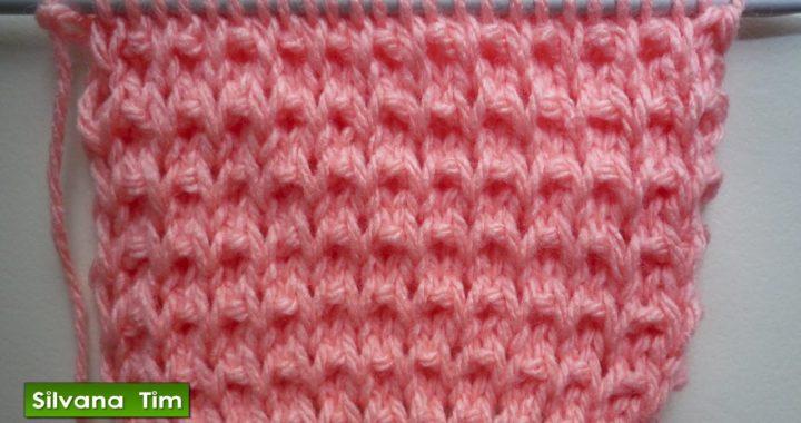 Punto Arroz tejido con dos agujas ✅ Punto fácil. Tutorial tejidos / silvana tim  # 271