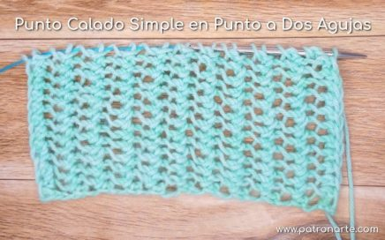 Punto Calado Simple en Punto a Dos Agujas Paso a Paso | Aprende a Tejer en Dos Agujas