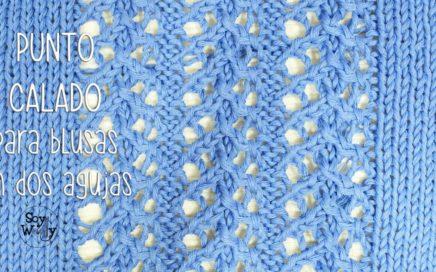 Punto Calado para tejer tops, blusas en dos agujas - Soy Woolly