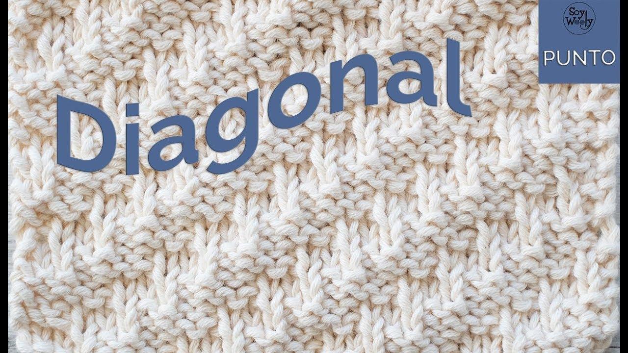 Punto Diagonal: para tejer bufandas-cuellos en dos agujas
