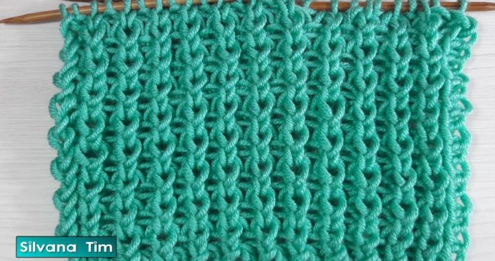 Punto Fácil Suave para tejer Bufanda. Tutorial. Tejido con dos agujas # 802