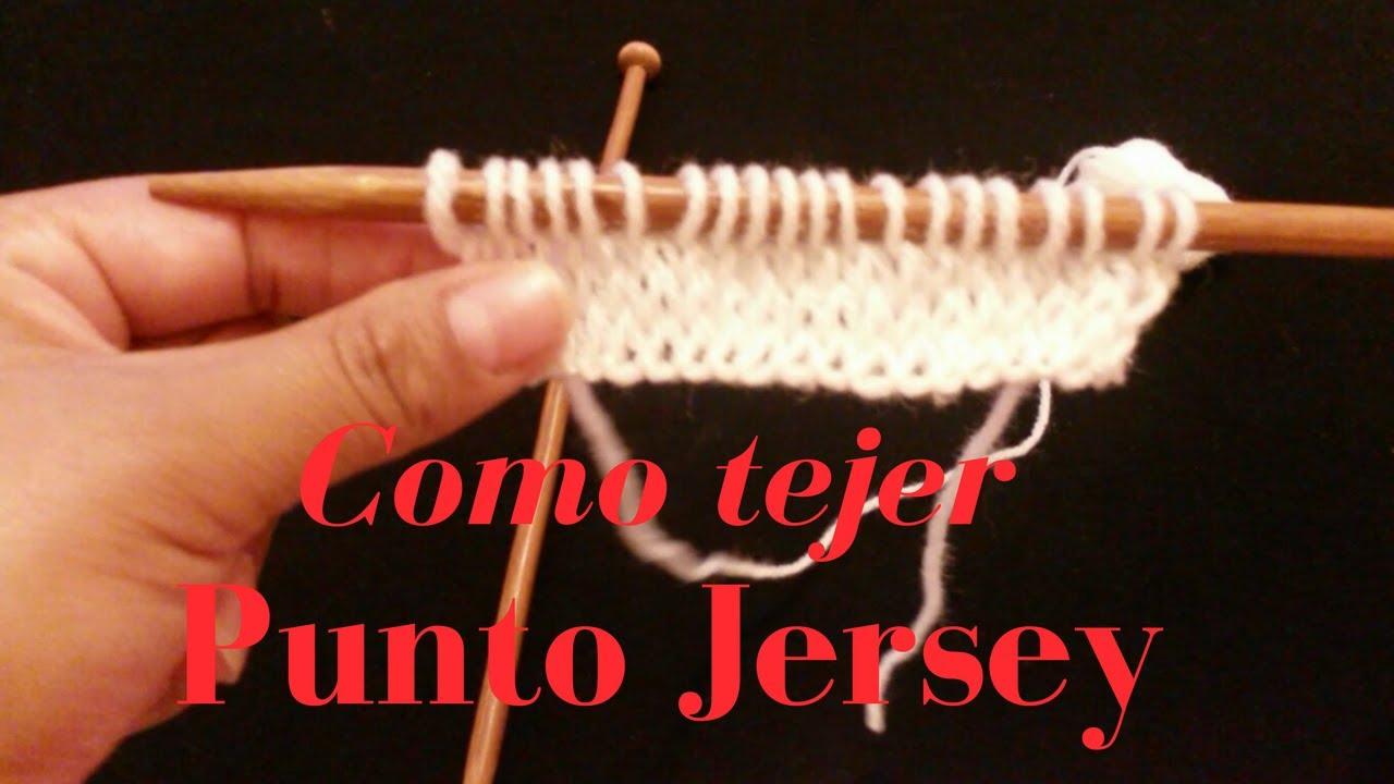 Punto Jersey. Como tejer punto jersey a dos agujas facil😜