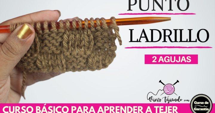 Punto Ladrillo a dos Agujas | Curso para aprender a tejer 7.1 | vivir tejiendo perú