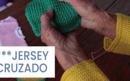 Punto de tejer a dos agujas ➽ Jersey Cruzado ➜ Aprender a #tejer bien
