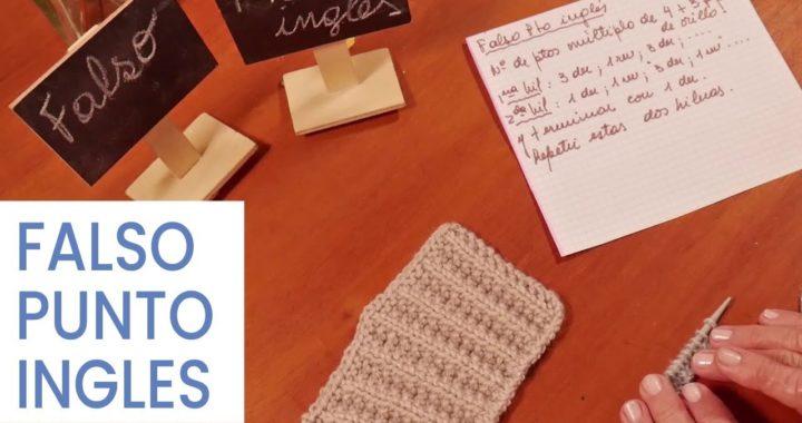 Puntos Tejer dos agujas ➜ Falso punto inglés ➽ Aprender a #Tejer bien