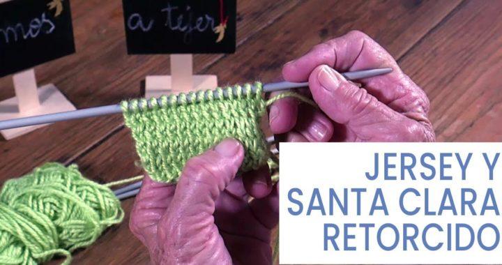Puntos de #tejer dos agujas ➜ Jersey y Santa Clara retorcidos ➜ Técnicas y secretos para tejer bien