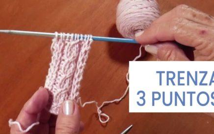 Puntos de #tejer dos agujas ➜ Trenza 3 puntos ➜ Aprender a tejer ochos