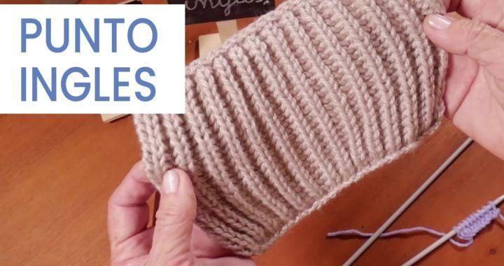 Puntos #tejer dos agujas ➽ Punto Inglés Tradicional ➜ Aprender a Tejer