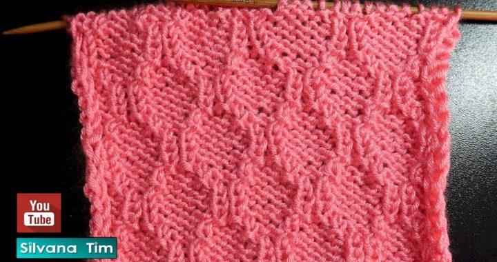 Puntos tejidos con DOS AGUJAS. Aprender a Tejer Punto ROMBOS # 825