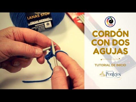 [TUTORIAL] Cómo hacer un cordón de punto a dos agujas