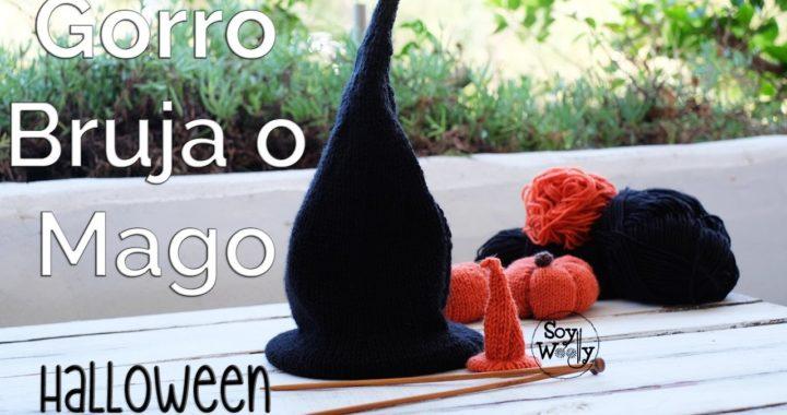 Teje un Gorro de Bruja o Mago en dos agujas-Tutorial Halloween