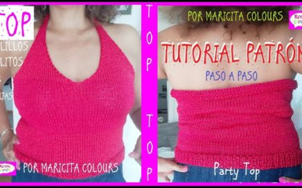"Top a dos Agujas ""Maricita"" Tutorial por Maricita Colours"