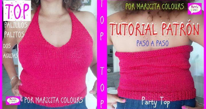 """Top a dos Agujas """"Maricita"""" Tutorial por Maricita Colours"""