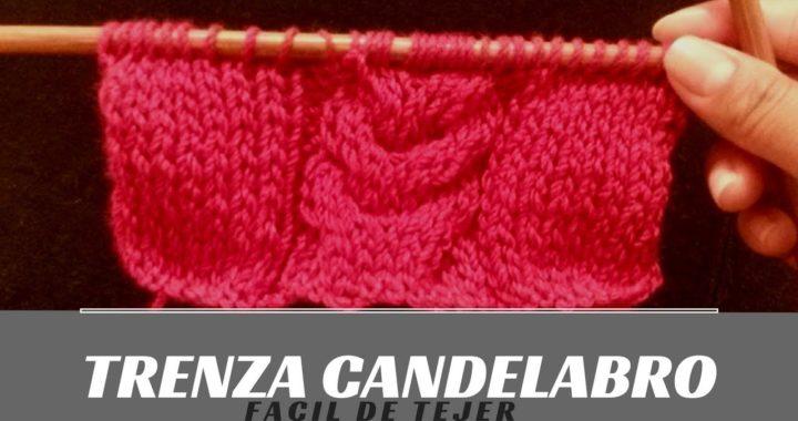 Trenza Candelabro, Facil de tejer, dos agujas!