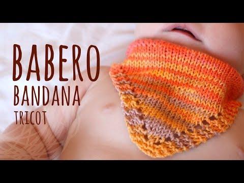 Tutorial Babero Bebé tipo Bandana Tricot | Dos Agujas - Lanas y Ovillos