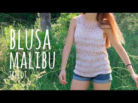 Tutorial Blusa Malibú Tricot | Dos Agujas - Lanas y Ovillos