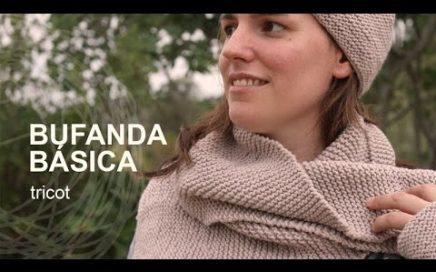Tutorial Bufanda Fácil Tricot o Dos agujas en Español