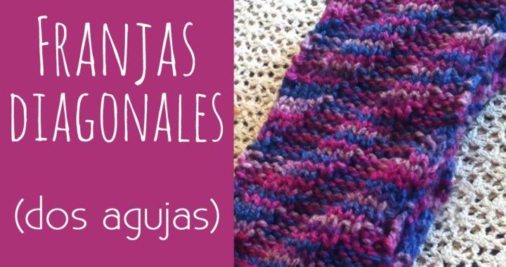 Tutorial: Cómo tejer Franjas Diagonales en Relieve (dos agujas)