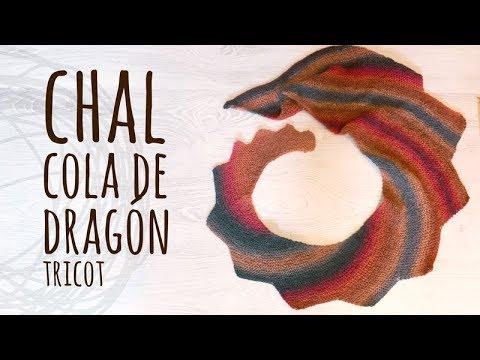 Tutorial Chal Cola de Dragón Tricot | Dos Agujas