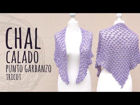 Tutorial Chal Elegante Tricot | Dos Agujas (Punto Garbanzo)