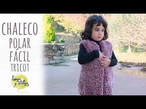 Tutorial Chaleco Fácil y Rápido Niña | Tricot o Dos agujas | Lanas y Ovillos