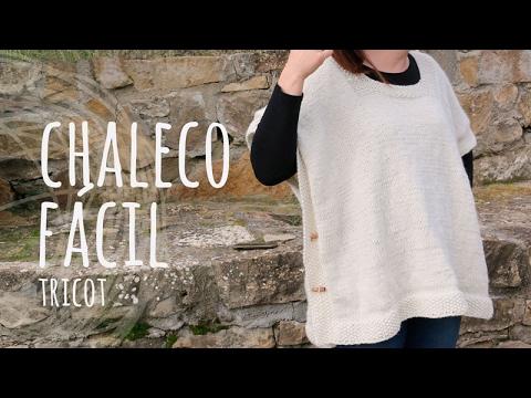Tutorial Chaleco Fácil y Rápido Tricot | Dos Agujas