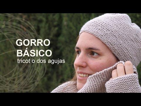 Tutorial Gorro muy Fácil Tricot o Dos agujas en Español